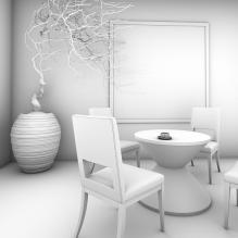 咖啡厅-室内建筑-商业_办公-CG模型-3D城