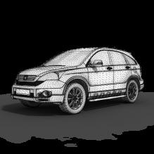 高精本田-汽车-家用汽车-CG模型-3D城