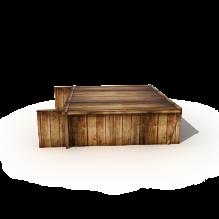 航海时代帆船的炮仓场景