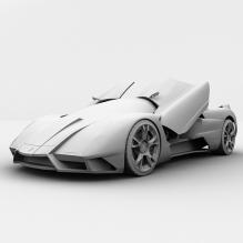 超级跑车-汽车-CG模型-3D城