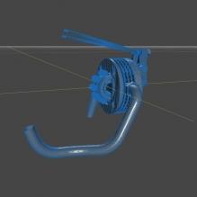 Motore a elica stellare a scoppio 5 clindri-CG模型-3D城