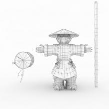 熊猫酒仙-人物_角色-角色-CG模型-3D城