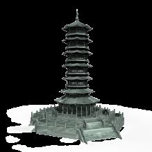 7层塔-室外建筑-古建筑-CG模型-3D城