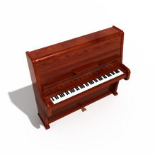 钢琴-体育_爱好-乐器-CG模型-3D城