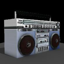 收音机-电子产品-音频-CG模型-3D城
