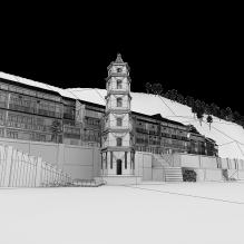 临江吊脚楼-室外建筑-古建筑-CG模型-3D城