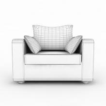 单人沙发-家居-沙发-CG模型-3D城