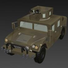 武装吉普-汽车-军事汽车-CG模型-3D城