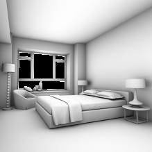 房间一角-室内建筑-卧室-CG模型-3D城