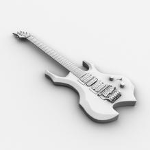 电吉他-体育_爱好-乐器-CG模型-3D城
