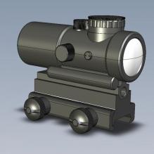 red-dot-sight-CG模型-3D城