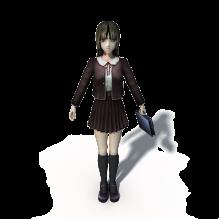 短裙女高中生