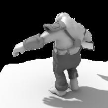 怪兽-人物_角色-小孩-CG模型-3D城