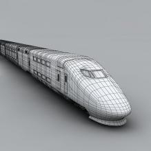新干线列车-汽车-火车-CG模型-3D城