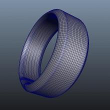 耐克智能手环NIKE Fuelband-电子产品-CG模型-3D城