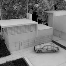 阳光小别墅-室外建筑-住宅-CG模型-3D城
