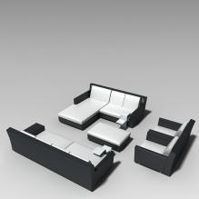 沙发组合-家居-沙发-CG模型-3D城