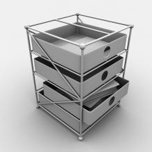 组装文件架-生活办公用品-办公用品-CG模型-3D城