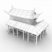 古代游戏建筑-室外建筑-古建筑-CG模型-3D城