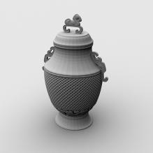 香炉-艺术-艺术品-CG模型-3D城