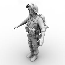 BF3 MP Russian Support-人物_角色-角色-CG模型-3D城