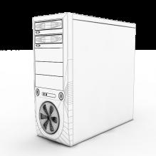 CPU Case-电子产品-电脑-CG模型-3D城