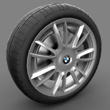 宝马7系车轮-汽车-CG模型-3D城