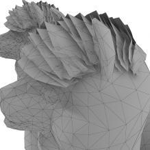 羊驼-动物-哺乳动物-CG模型-3D城