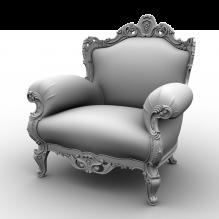 欧式扶手椅-家居-沙发-CG模型-3D城