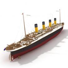泰坦尼克号-船舶-轮船-CG模型-3D城