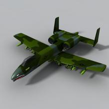 A-10 雷电-飞机-军事飞机-CG模型-3D城