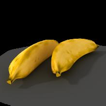 香蕉-食品-水果-CG模型-3D城