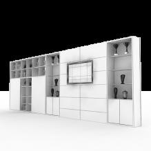 书柜-生活办公用品-办公用品-CG模型-3D城