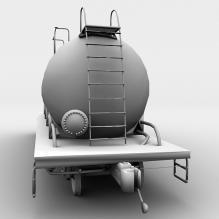 油罐车-汽车-卡车-CG模型-3D城