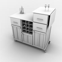 橱柜-家居-柜子-CG模型-3D城