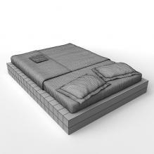 双人床-家居-床-CG模型-3D城