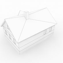 房子-室外建筑-住宅-CG模型-3D城