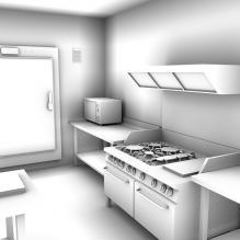 厨房-建筑-厨房-VR/AR模型-3D城
