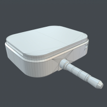 拉卡拉手机刷卡器-电子产品-CG模型-3D城