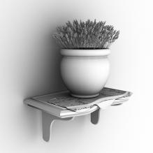 置物架上的薰衣草盆栽-植物-盆栽-CG模型-3D城