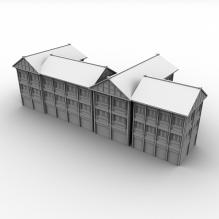复古建筑-室外建筑-古建筑-CG模型-3D城