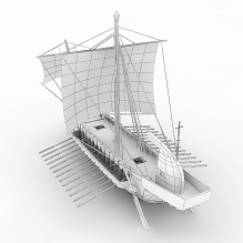 木船-船舶-其它-CG模型-3D城