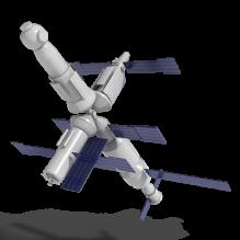 空间站-科技医疗-航天卫星-CG模型-3D城