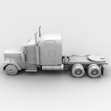 半挂卡车-汽车-卡车-CG模型-3D城
