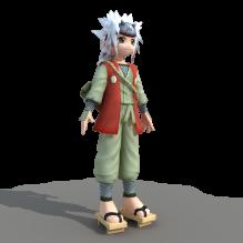 幼年自来也-人物_角色-小孩-CG模型-3D城