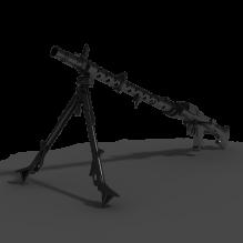 MG-42机枪-军事&武器-枪-CG模型-3D城