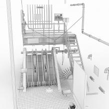 生化2污水处理所-室外建筑-工业_厂房-CG模型-3D城