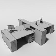 办公桌-家居-桌椅-CG模型-3D城