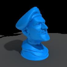 上校头像-艺术-3D打印模型-3D城