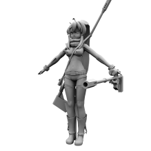 女主优子-人物_角色-女人-CG模型-3D城